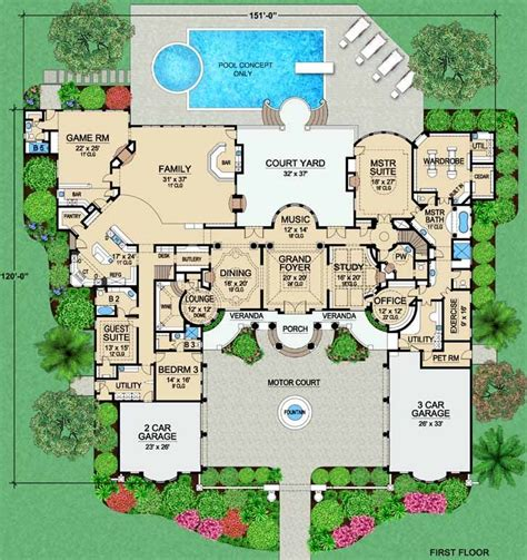 Luxury Home Plans Search Thousands of House and Floor