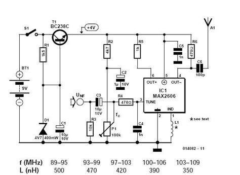 MAX2606 Mini FM Transmitter ElectroSchematics