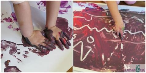 MESSY FUN WITH FINGER PAINTING Learning 4 Kids