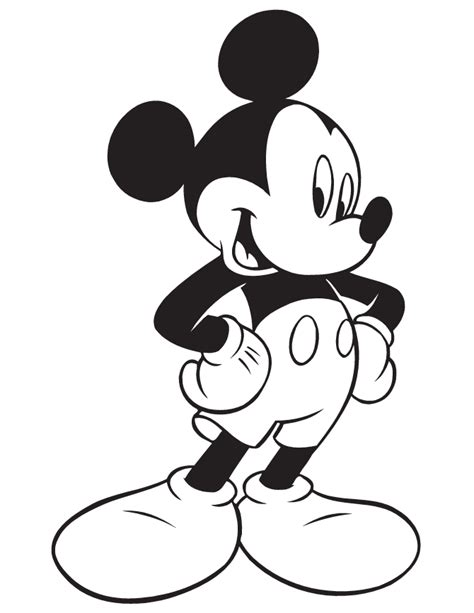 MICKEY MOUSE COLORING Pages Free Download Printable