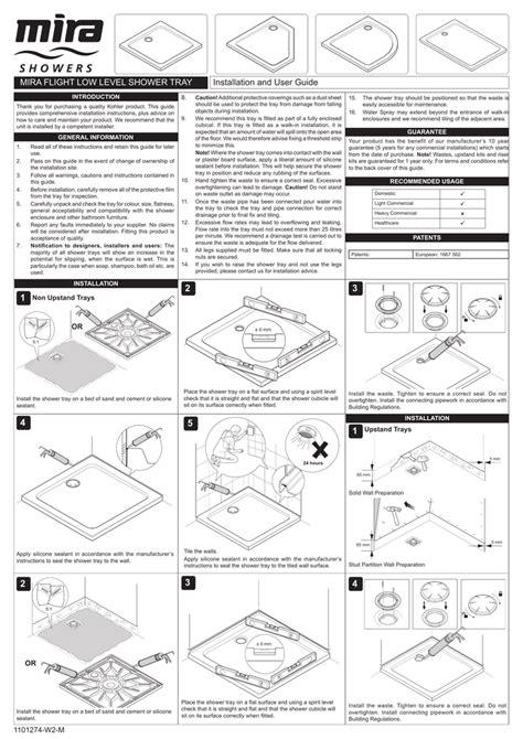 MIra Shower Seat Installation User Guide