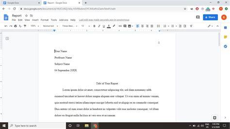 MLA Format Google Docs MLA Format