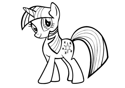 MLP Princess Twilight Sparkle Coloring Book Pages My Little Pony Coloring Pages Mane 6 Kids Art