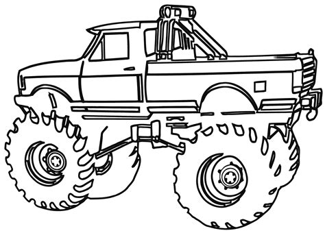 MONSTER TRUCK COLORING Pages Free Download Printable