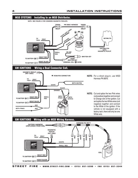 msd wiring diagrams images msd 5520 ignition control module installation instructions