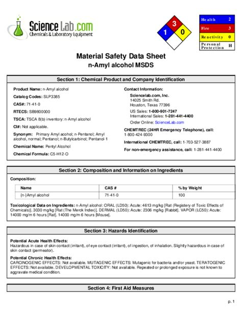 MSDS Sheets Welcome to Products Chemical Company