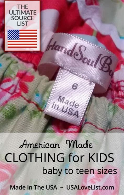 Made in the USA Clothing for Kids The Ultimate Source List