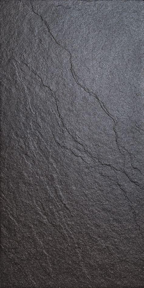 Magma Black Stone Effect Plain Porcelain Wall Floor Tile