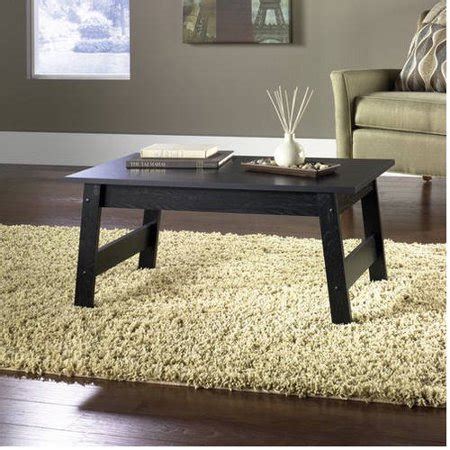 Mainstays Coffee Table Black Oak Finish Walmart