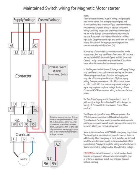 magnetic contactor wiring diagram images relay wiring diagram maintained switch wiring for magnetic motor starter