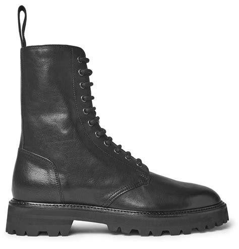 Maison margiela Black Combat Boots in Black for Men Lyst
