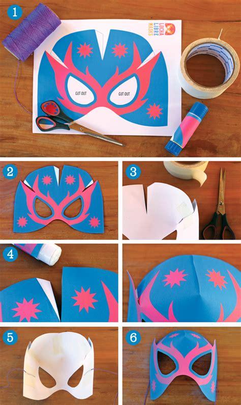 Make Lucha Libre masks Afordable no sew mask template