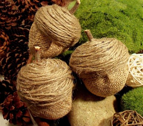 Make The Best of Things Burlap Acorns from Easter Eggs