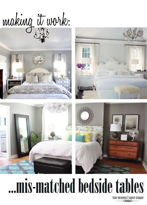 Making It Work Mis Matched Bedside Tables The Homes I