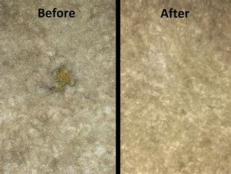 Making Small Stains Burns Holes in Carpet As If They