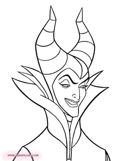 Maleficent Free Printable Coloring Pages for Kids