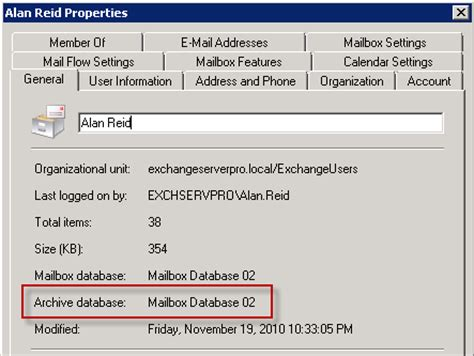 Managing Personal Archive in Exchange Server 2010 Part 3