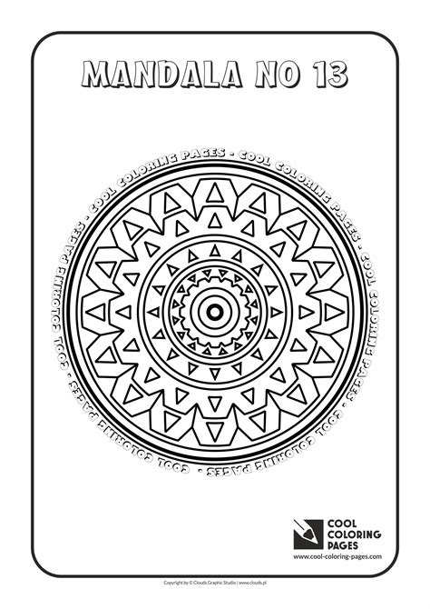 Mandala no 13 Coloring pages Cool Coloring Pages