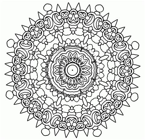 Mandalas to Color Intricate Mandala Coloring Pages