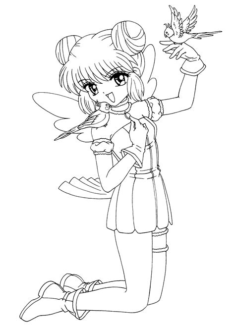 Manga coloring pages Coloring 4kids
