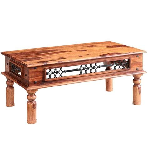 Mango Solid Wooden Coffee Tables Indian Madison Jali