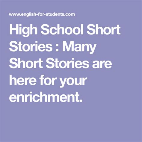 Many Short Stories are here for your enrichment