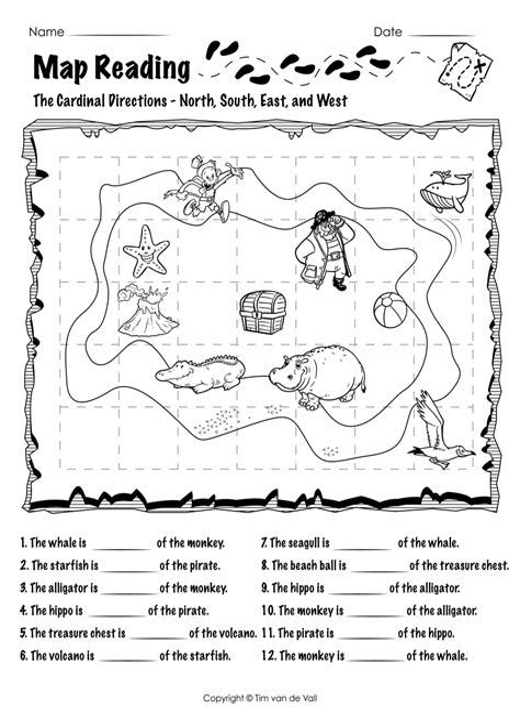 Map Skills Worksheets Free Printable Worksheets for