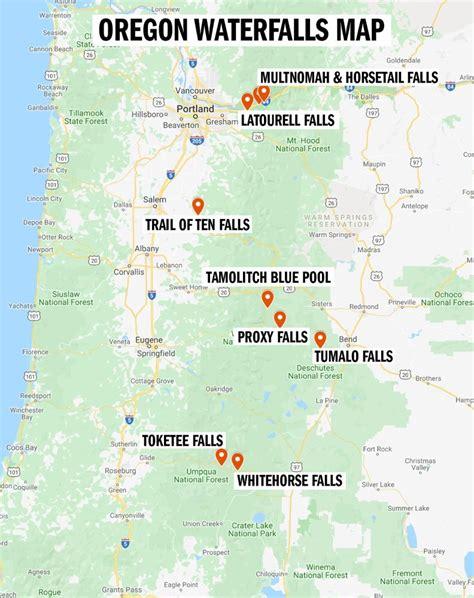 Map of Oregon Waterfalls GEOLOGY COM