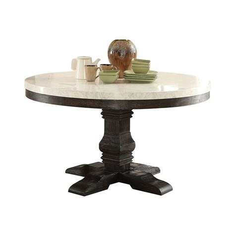 Marble Top Round Pedestal Table