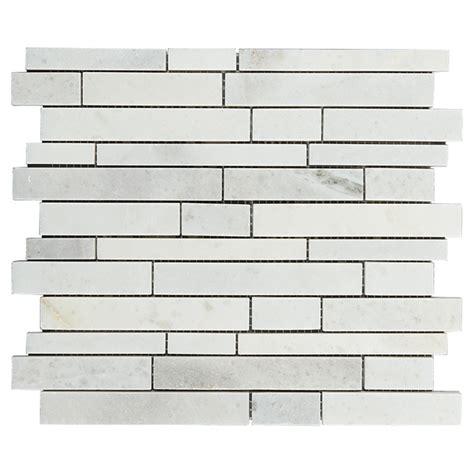 Marble Wall Tiles Carrera Mosaic 5 Box RONA