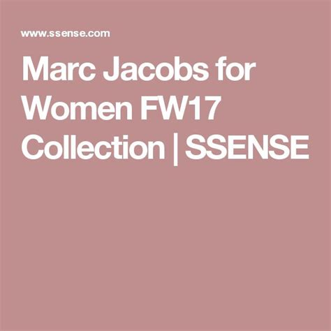Marc Jacobs for Men FW17 Collection SSENSE