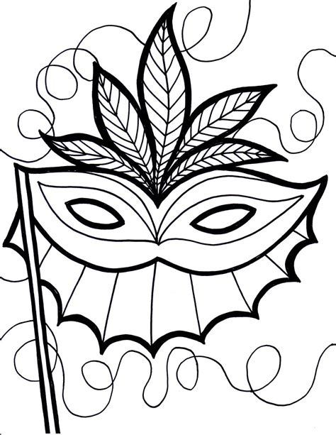 Mardi Gras Online Coloring Pages Page 1