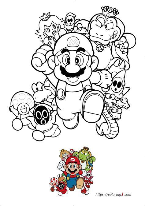 Mario Bros Coloring Super Mario Bros Free Coloring