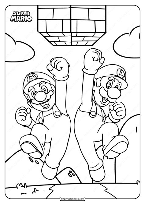 Mario Bros coloring pages printable games