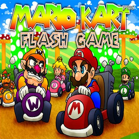 Mario Kart Flash play free online games on ALFY