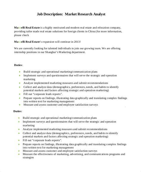 Market Research Analyst Job Description Duties and Jobs