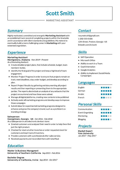 Marketing Resume Samples Marketing Resumes Examples and