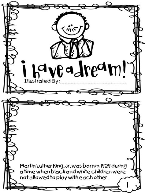 Martin Luther King Jr Day Activities color sheets word