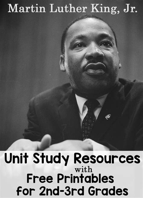 Martin Luther King Jr Unit Study Resources with Free