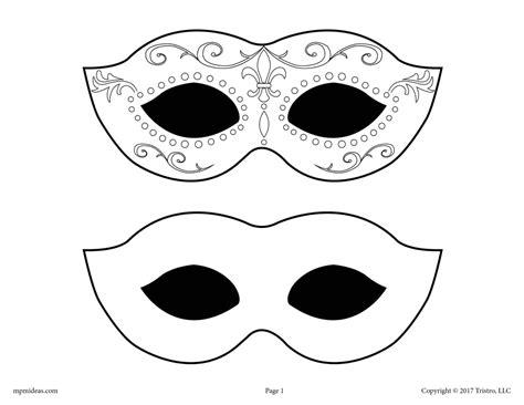 Masquerade Mardi Gras Mask Printable Templates