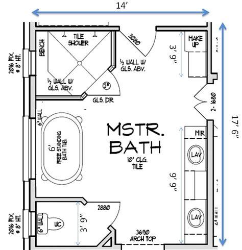 Master Bathroom Floor Plans House Plans Helper