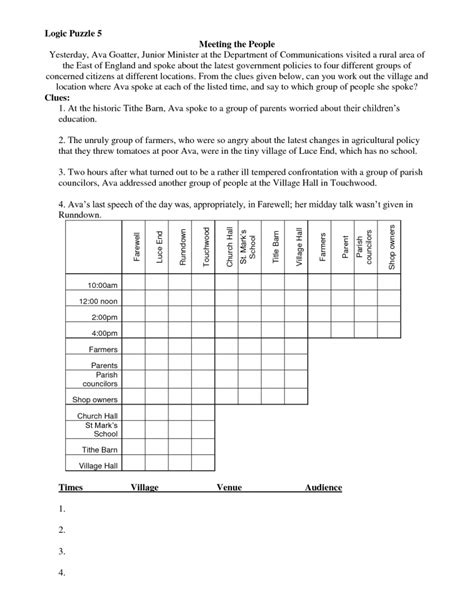 Math Puzzles Logical Reasoning Printable Math Puzzles