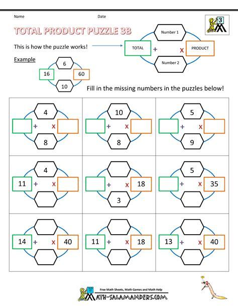 Math Puzzles Worksheets