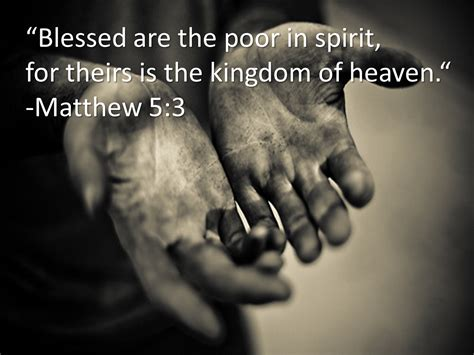 Matthew 5 3 Commentaries Blessed are the poor in spirit