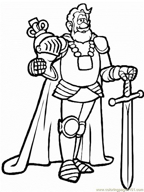 Medieval Royalty Coloring Pages