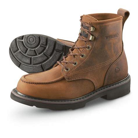 Men Moc Toe 6 Work Boot Brown Wolverine