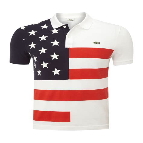 Men s American Flag Piqu Polo Shirt American Flag Polo