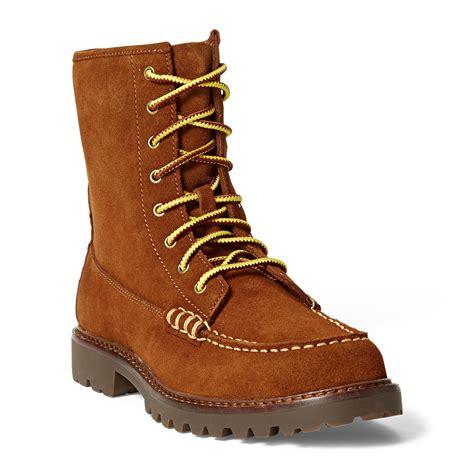 Men s Boots Leather Suede Work Boots Ralph Lauren