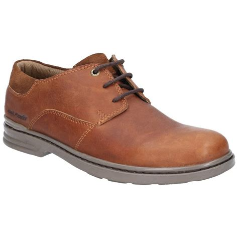 Men s Casual Leather Boots Hush Puppies