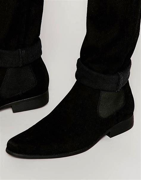 Men s Chelsea Boots Black Suede Chelsea Boots ASOS